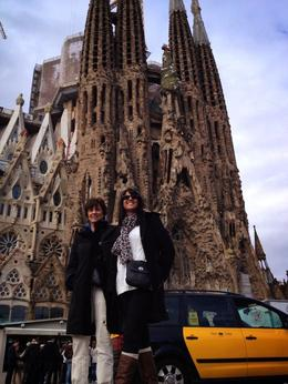 Photo of Barcelona Skip the Line: Best of Barcelona Tour including Sagrada Familia Smiling at the Glory of the Sagrada Familia