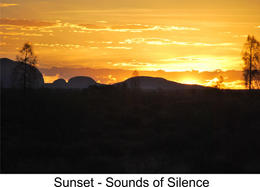 Sunset while enjoying canapes and champagne at Sounds of Silence , Azi - April 2013