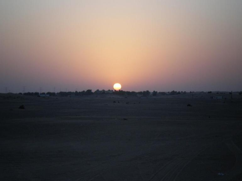 Sunset over the desert - Dubai