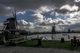 Zaanse Schans Lumber Mill Windmill - you do get to go inside and watch a working windmill! , Marta G - November 2014