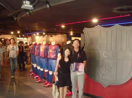 Lots of people in the FC Barcelona mega store. , Chan KW & SM San - July 2011