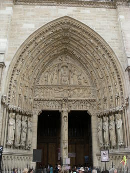 Photo of   Entry way to inside Notre Dame