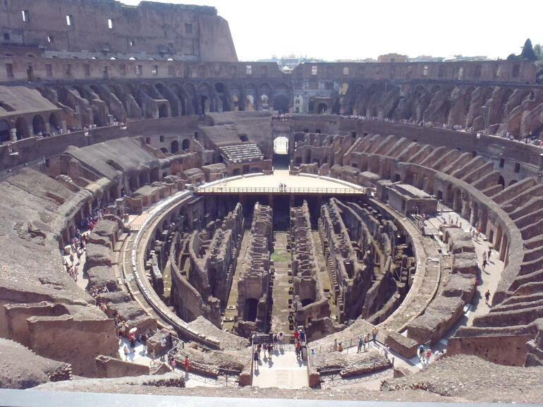 From the upper tier - Rome