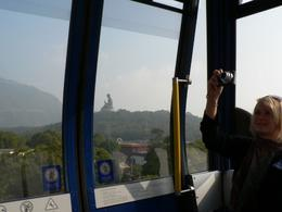 Giant Buddha from Cable Car, Lantau, on tour by Anthony Partridge, Anthony P - December 2009