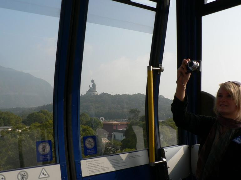 Giant Buddha from Cable Car - Hong Kong