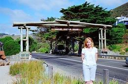 Me at the official start of The Great Ocean Road., Lisa C - February 2009