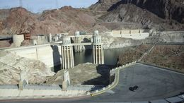 Hoover Dam from bridge overpass , smhwerner - April 2015