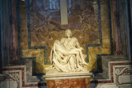 The most famous sculpture at St. Peter's, and one of Michaelangelo's first sculptures. Amazing! , Zach83 - June 2014