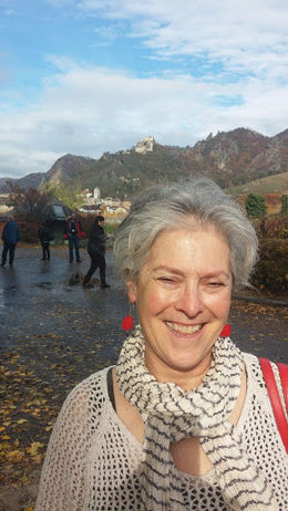 Above my head in this photo is the castle where England's Richard the Lionheart was held for ransom in the 12th century. This is just outside Dürnstein. , Jennifer B - November 2015