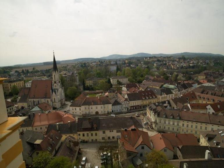 View of the town of Melk from the Abbey