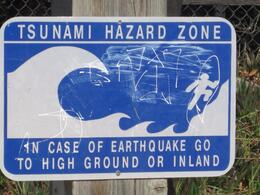 Photo of   Monterey Earthquake Sign