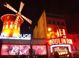 Photo of Paris Eiffel Tower, Paris Moulin Rouge Show and Seine River Cruise Moulin Rouge at full light