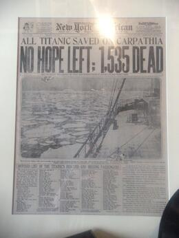 Photo of Orlando Titanic The Experience newspaper