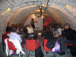 Paris Wine Tasting at the intimate cavern cellar., Chou Fleur - October 2010