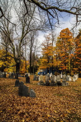 Photo of Boston Fall Foliage Sightseeing Tour from Boston The Church Yard in Ashby, Massachusetts