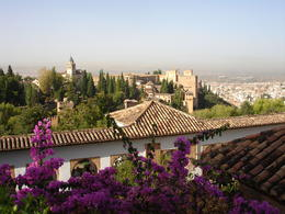 Photo of Granada Skip the Line: Alhambra and Generalife Gardens Half-Day Tour View of Granada from the Alhambra Palace.