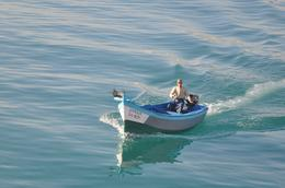 Friendly fisherman on Mediterranean , kands - November 2012