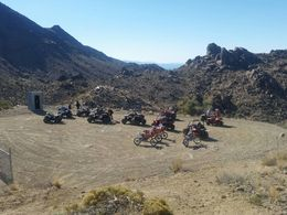 An awesome view of all the vehicles on the tour when we all met up! , Carrie&Bob - January 2016