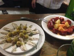 Photo of Madrid Madrid Tapas Night Walking Tour anchovies and chorizo