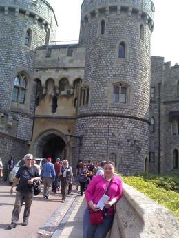 Photo of London Small Group Stonehenge, Windsor Castle and Bath Day Trip with Pub Lunch from London coming out of Windsor Castle