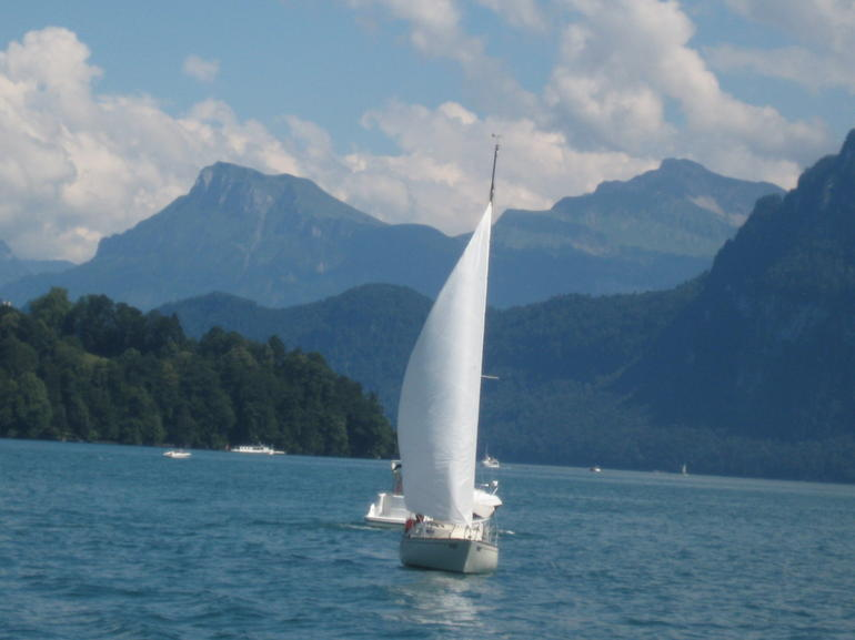 Sailing on Lake Luzern