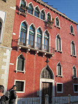 One of the lovely Venetian buildings on our walk through the back streets , Susan E - March 2012