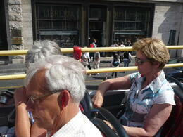 Photo of Rome Rome Hop-On Hop-Off Sightseeing Tour in de bus