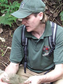 Manoa - Rainforest and our tour guide. - December 2007