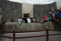 People in the tour entering the mound. , Catherine P - July 2014