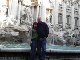 In front of the beautiful Trevi Fountain., Debra V - November 2010
