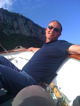 Relaxing before the Blue Grotto, Christopher S - October 2010
