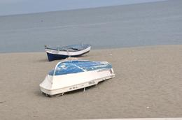 Old fishing boats on the beach. , kands - November 2012