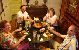 Dinner with foreign guests - August 2009