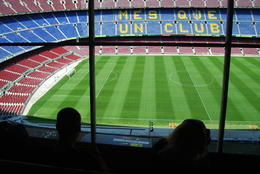 From the Nou Camp Press Boxes , Jill M - July 2012