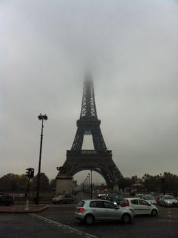 Early morning at the Eiffel Tower , Sharmon B - November 2011