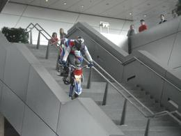 When you get off at Olympia Park, go to BMW World and do the Plant Tour and spend time at BMW World. There was a stunt rider who was fun to watch when we were there., David F - July 2010