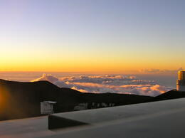 this was the lovely sunset above the clouds at 14,000 ft. , Itchie - February 2013