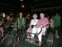 Just before the unforgettable trishaw ride. Photo of Rog and Gill taken by our great guide., Roger R - February 2009