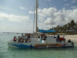 Photo of our sister cat prior to setting sail! It was a great fun filled day off the beautiful shores of Punta Cana, DR., Ernest F - April 2010