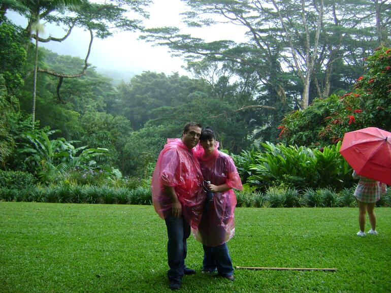 us at the valley of the rainbows - Oahu