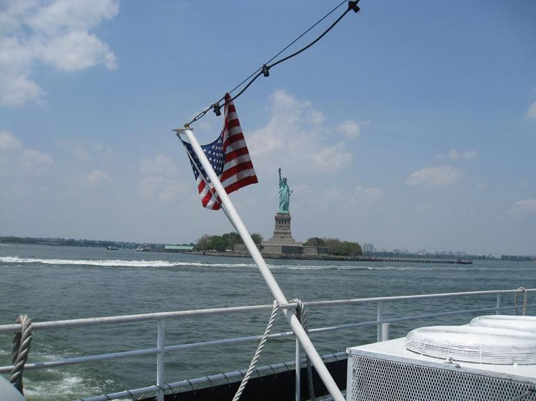 View of Lady Liberty from the Stern - New York City