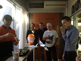 Photo of Sydney Hunter Valley Wineries and Wilderness Small-Group Tour Cheese tasting at the cheese shop