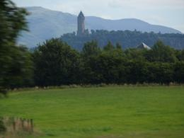 Took it on the bus, just passing the Stirling Castle, Patricia Y - August 2009