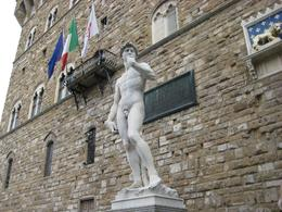 Photo of Florence Skip the Line: Florence Accademia and Uffizi Gallery Tour Copy of Michelangelo's David outside the Plazzo Vecchio