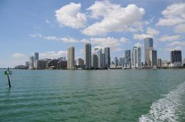 Downtown Miami Taken from Biscayne Bay, facing west, Jeffrey S - March 2010