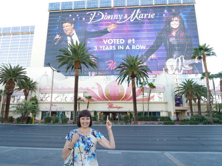 We stayed at the Flamingo but Donny and Marie were out of town. Probably heard we were coming.