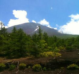 View of Mt. Fuji from tour bus - August 2010