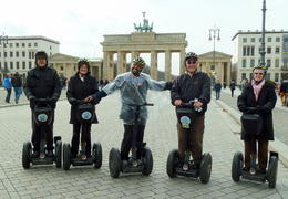 Photo of   Our group and guide at Brandenburg Gate in Berlin