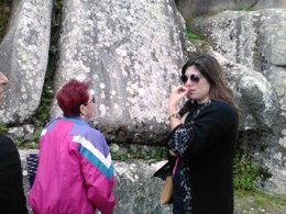 My wife with Thelma, our Guide. , UBI - June 2016