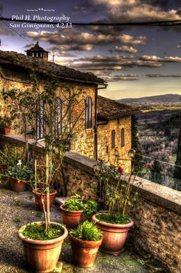 Beautiful view of the Tuscan hills from the scenic spot in San Gimignano. , Philina H - February 2013